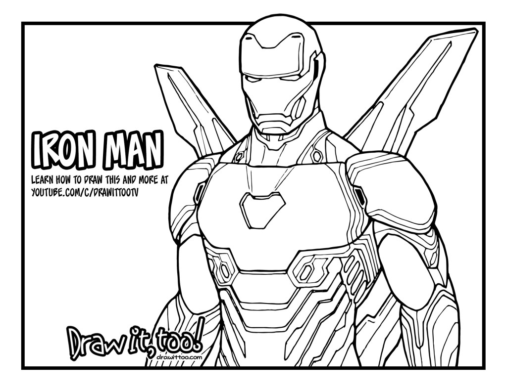 iron man coloring pages endgame iron man endgame printable coloring sheet etsy man coloring endgame iron pages