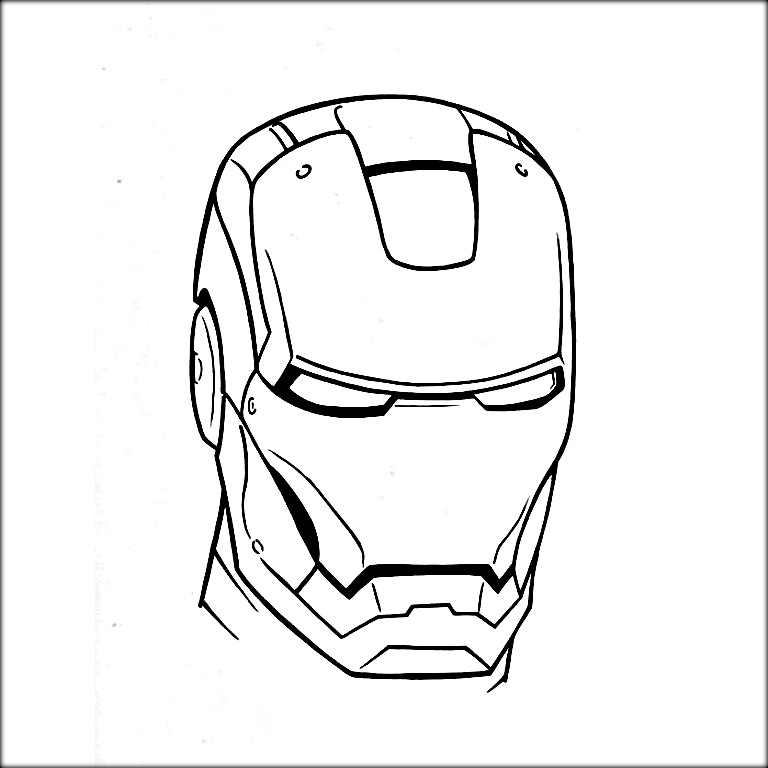 iron man face coloring pages iron man face drawing free download on clipartmag coloring man pages iron face