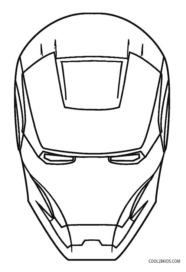 iron man face coloring pages ironman head outline clipart best coloring iron face man pages