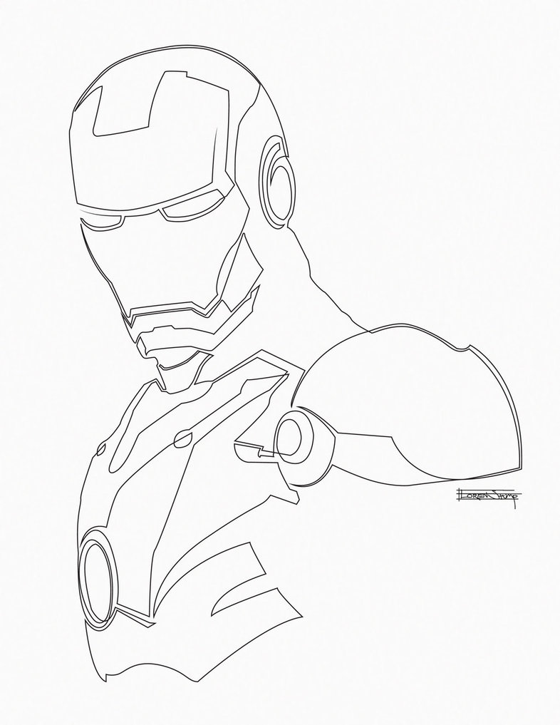 iron man outline free printable iron man coloring pages for kids outline man iron