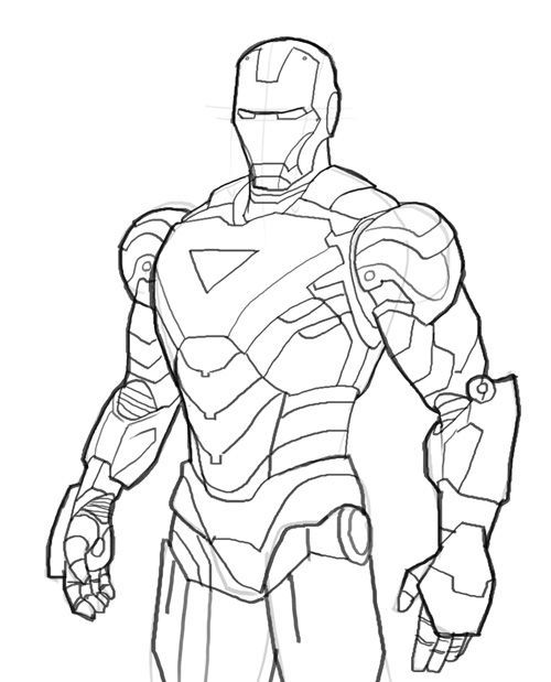 iron man outline iron man outline drawing at getdrawings free download outline iron man 1 1