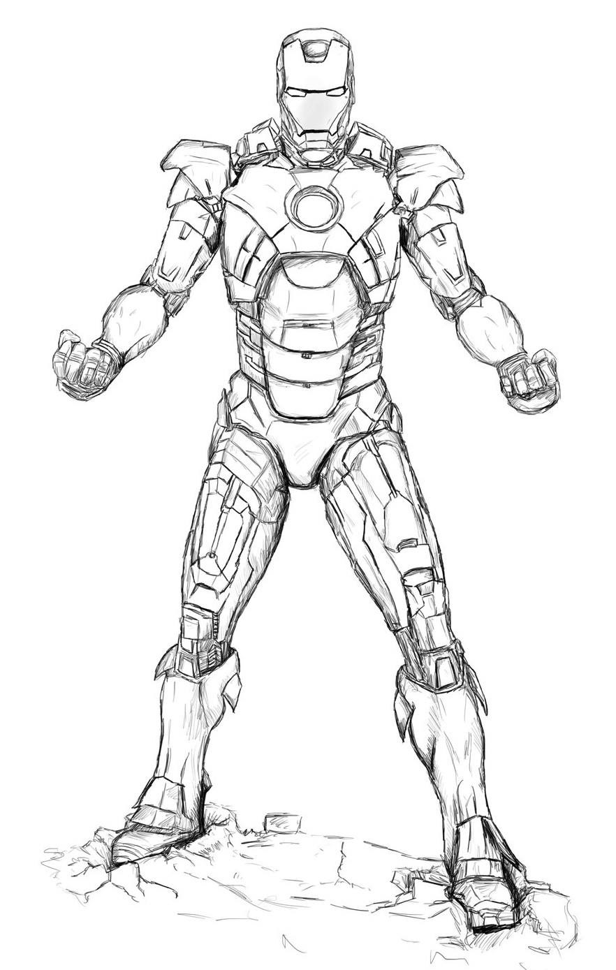 iron man outline iron man outline drawing at paintingvalleycom explore outline iron man