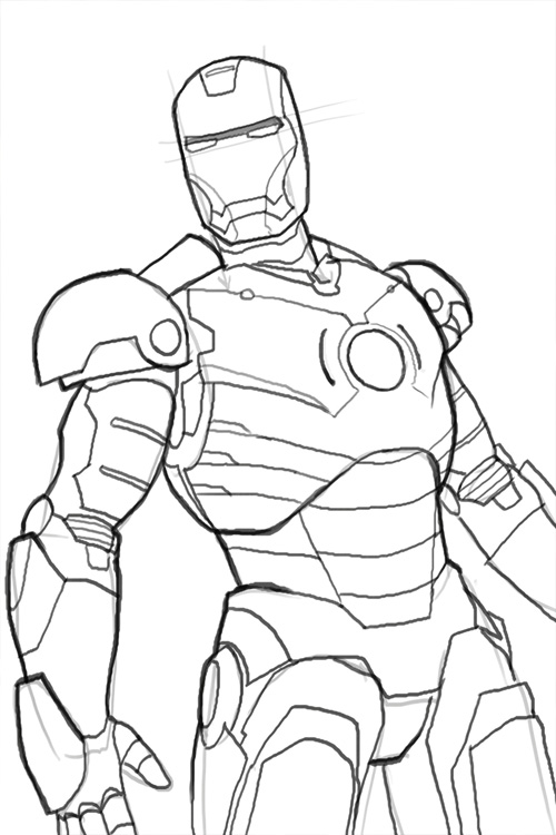 iron man outline iron man stop coloring pages for kids printable free outline iron man