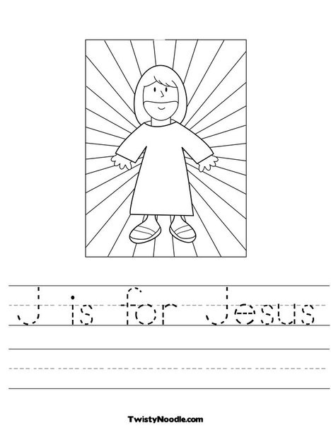 j is for jesus coloring page jesus with light worksheet from twistynoodlecom jesus jesus is page for j coloring