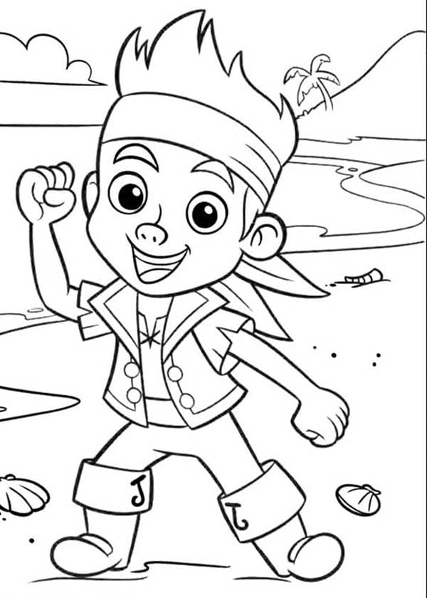 jake and the neverland pirates coloring page jake and the never land pirates coloring pages birthday jake coloring pirates the and neverland page