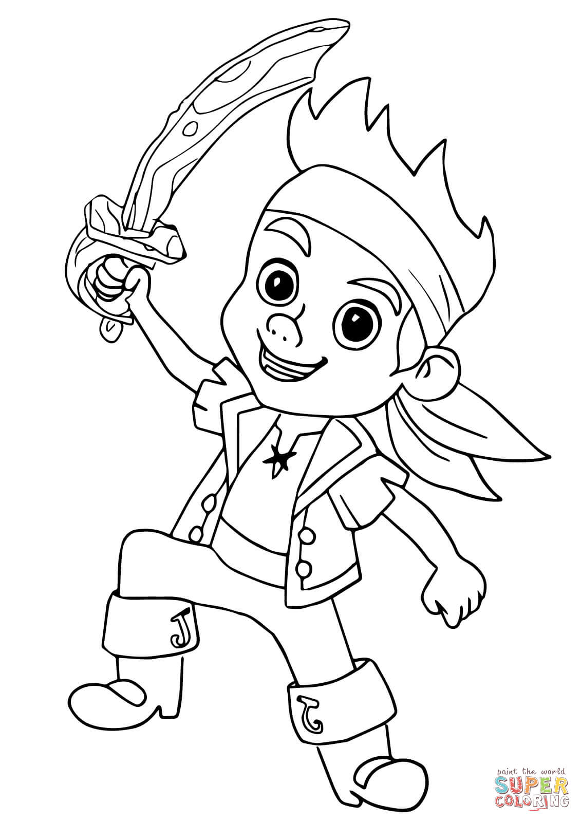 jake and the neverland pirates coloring page jake and the never land pirates coloring pages free the neverland pirates jake and coloring page