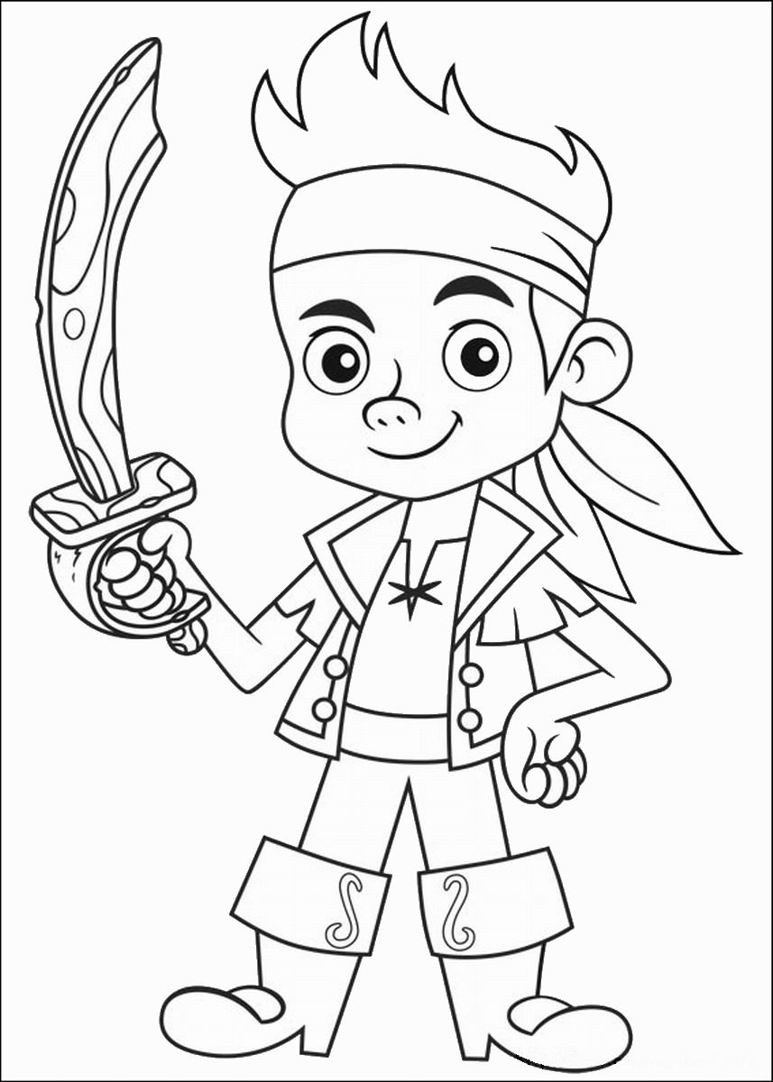 jake and the neverland pirates coloring page jake and the never land pirates coloring pages to download page jake coloring the neverland and pirates