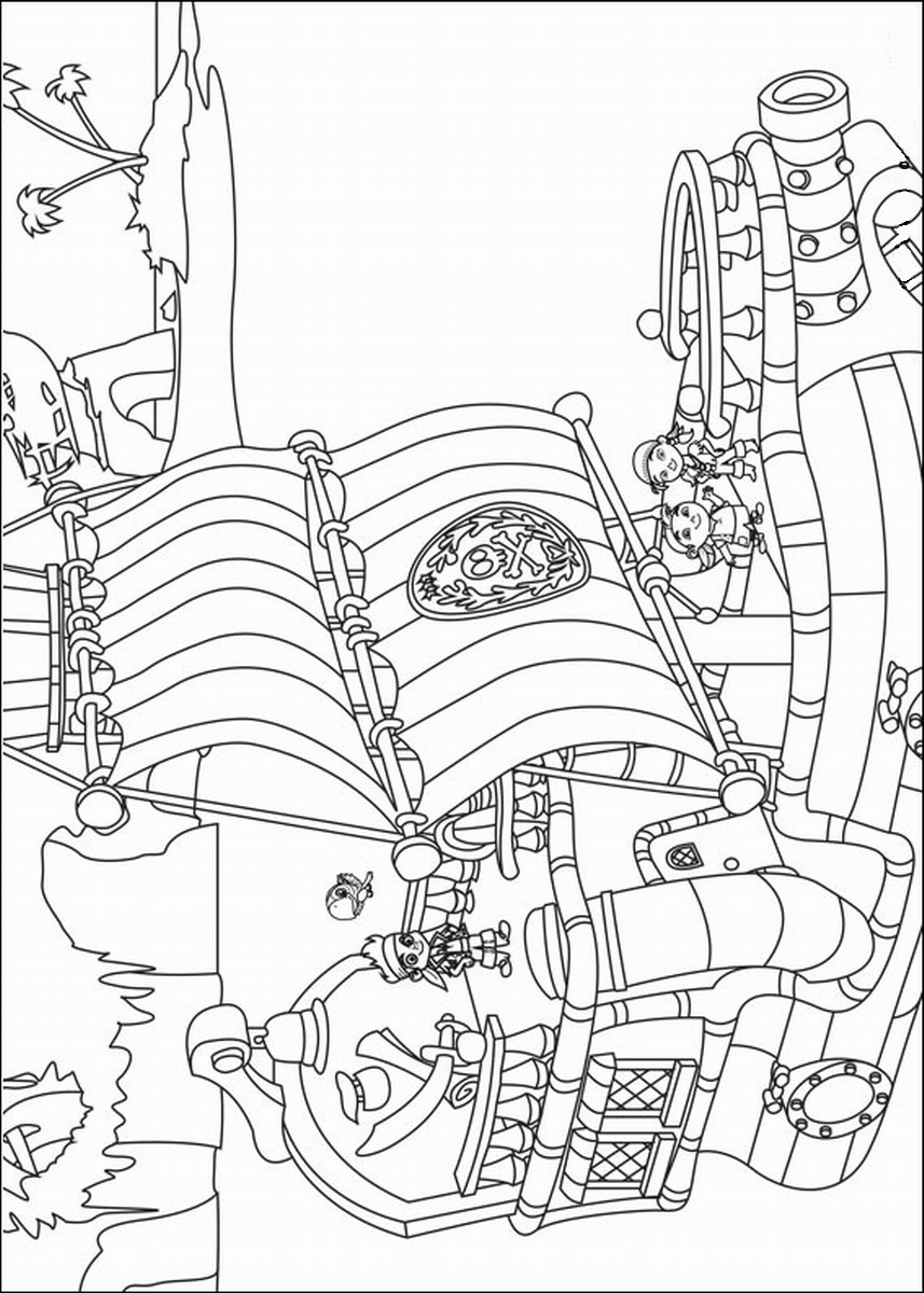 jake and the neverland pirates coloring page jake and the neverland pirates coloring page pirates neverland coloring the and page jake