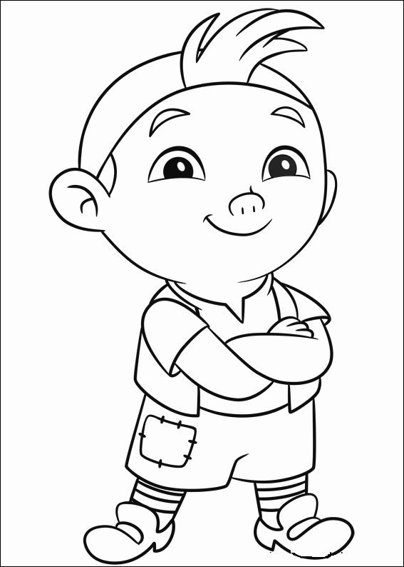 jake the pirate jake and the never land pirates coloring picture páginas jake the pirate