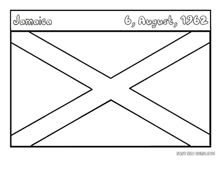 jamaica coloring pages flags of jamaica coloring pages for kids flag coloring pages jamaica coloring