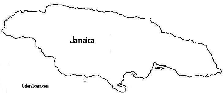 jamaican flag outline coloring map of jamaica google search coloring pages jamaican flag outline
