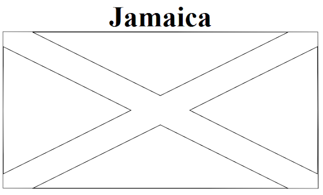jamaican flag outline jamaican flag coloring page free printable coloring pages flag outline jamaican