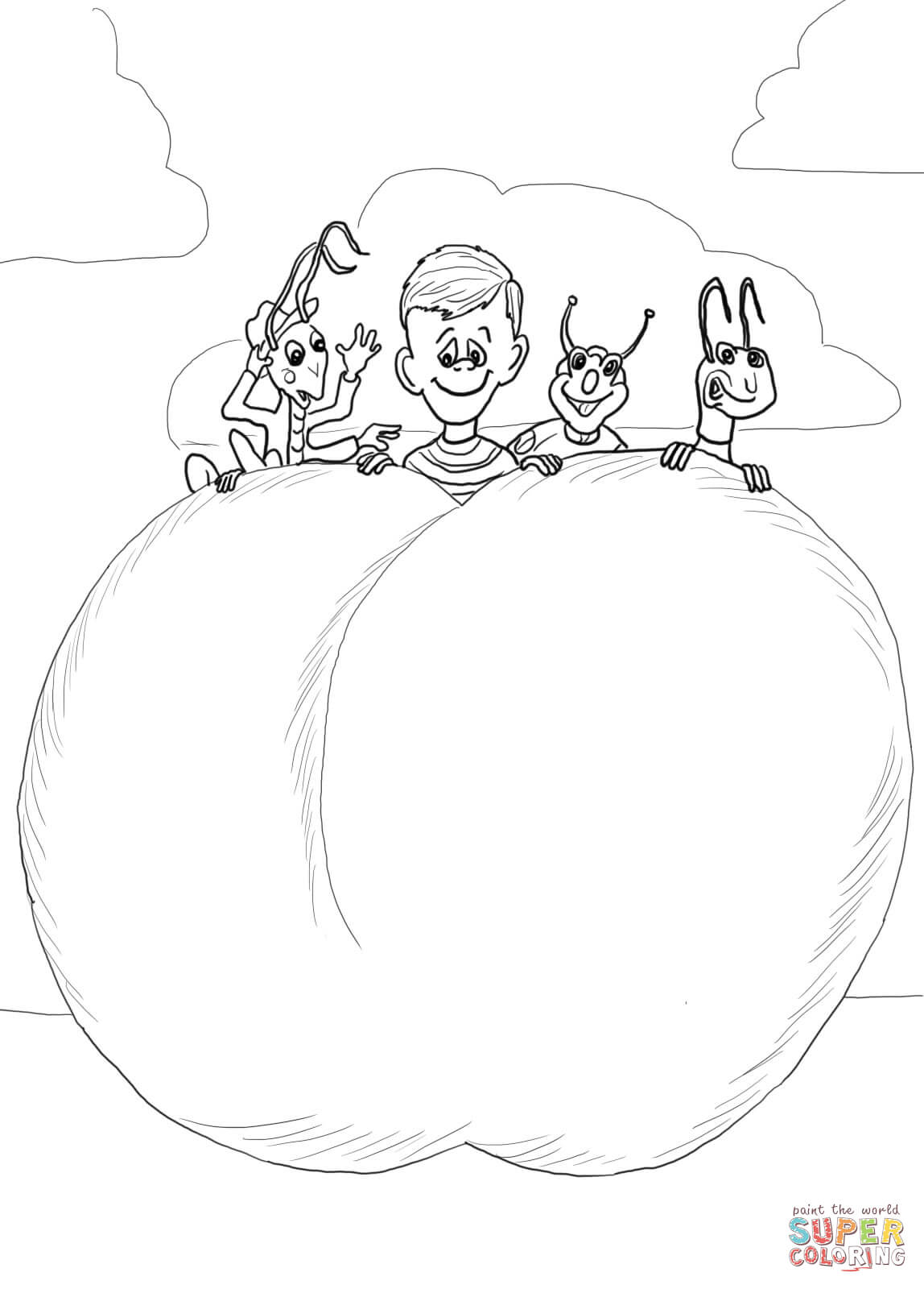 james and the giant peach coloring pages baby peach coloring pages at getdrawings free download pages the peach coloring giant james and