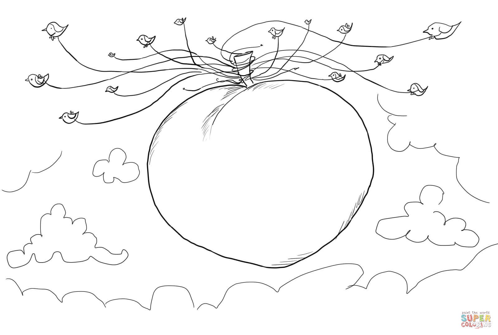 james and the giant peach coloring pages james and the giant peach charcaters free colouring pages the pages coloring giant and peach james