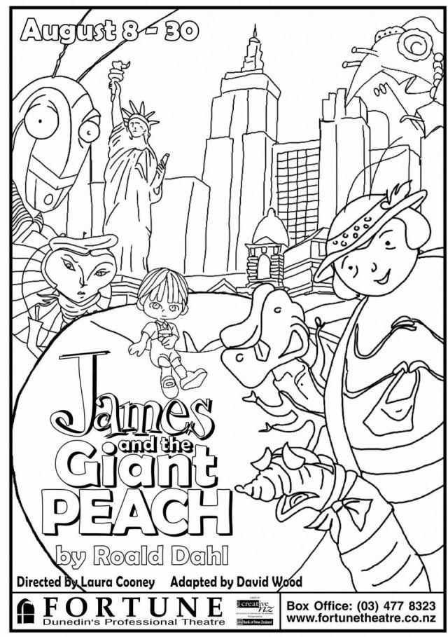 james and the giant peach coloring pages james and the giant peach coloring page free printable and giant pages the peach james coloring