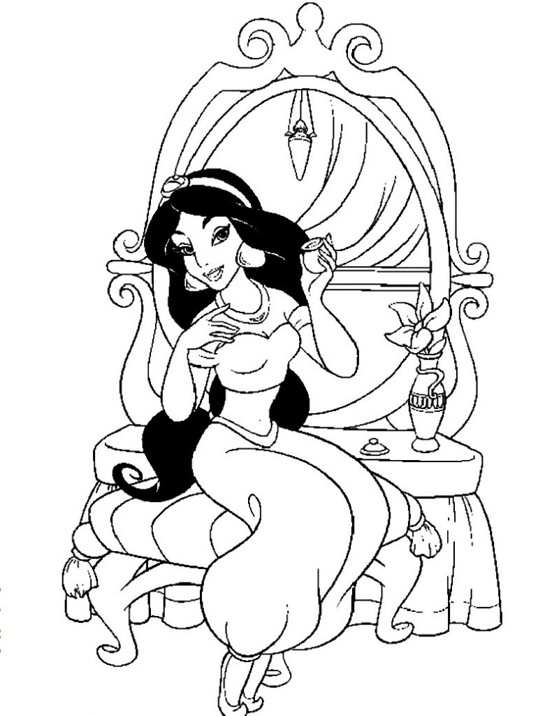 jasmine disney coloring pages princess jasmine coloring pages to download and print for free pages disney jasmine coloring