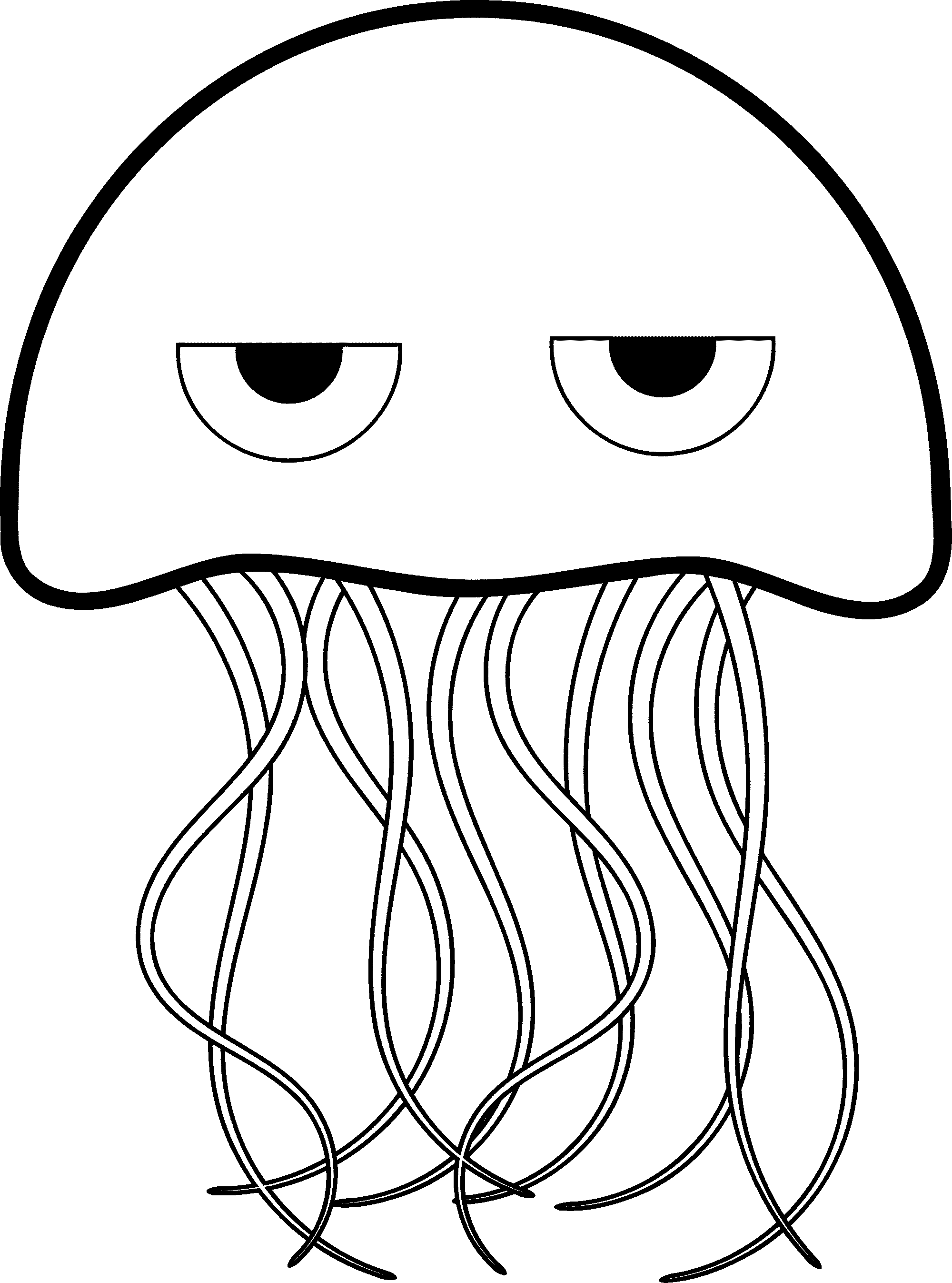jellyfish coloring jellyfish coloring page free download on clipartmag coloring jellyfish