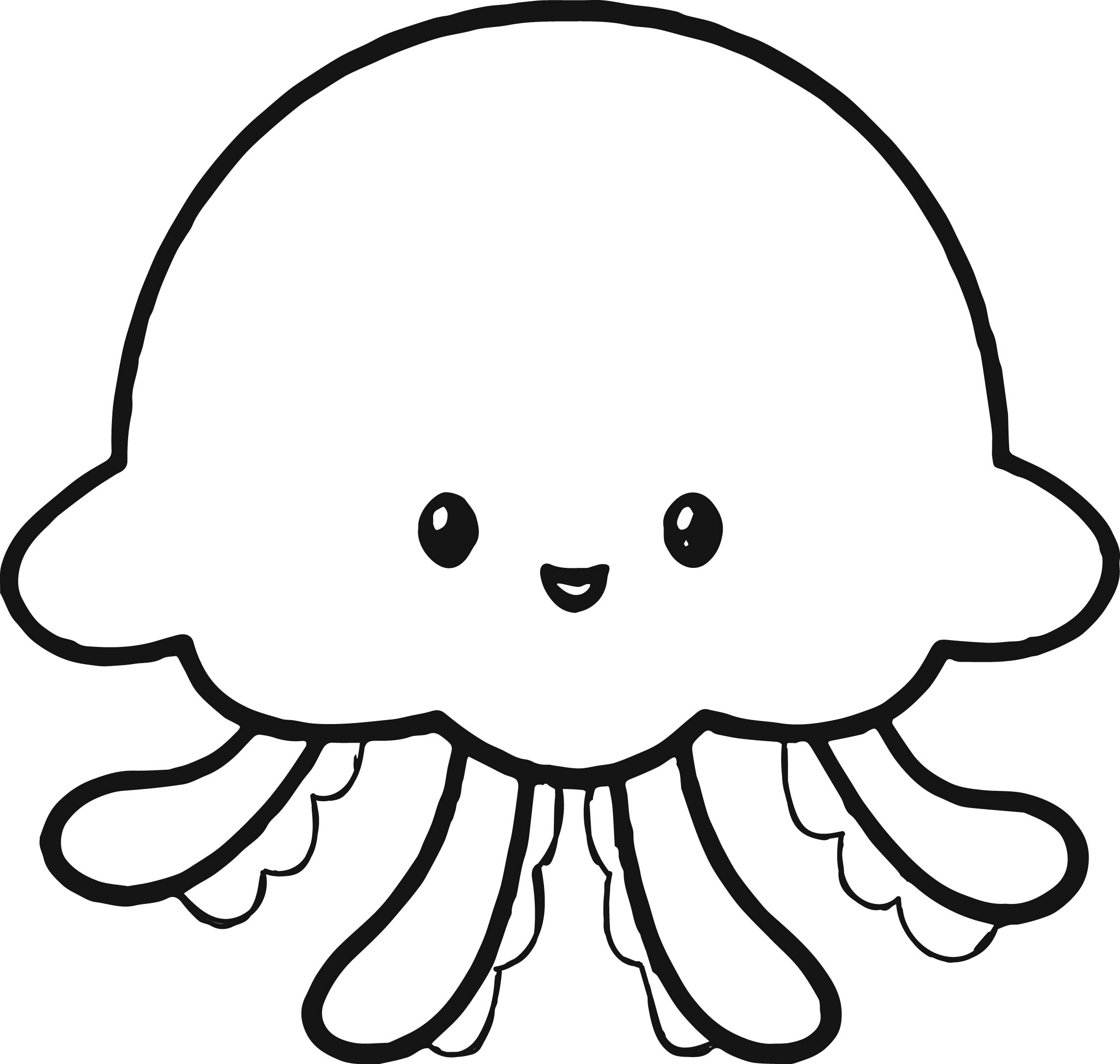jellyfish coloring jellyfish cute icon coloring page download print coloring jellyfish