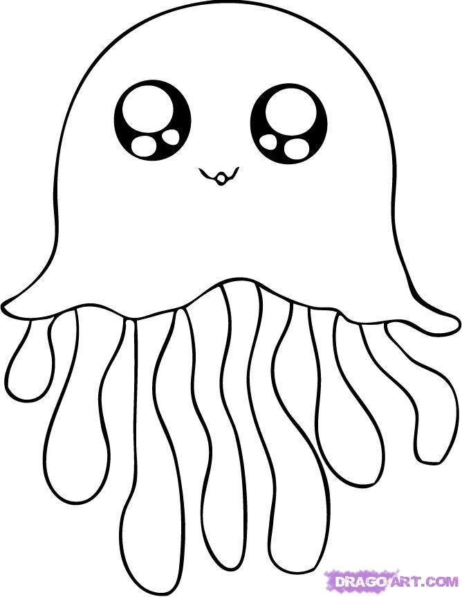 jellyfish coloring pages cute jellyfish coloring pages coloring jellyfish pages