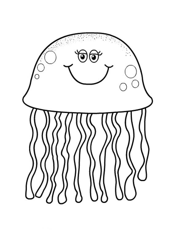 jellyfish coloring pretty eyes jellyfish coloring page download print jellyfish coloring