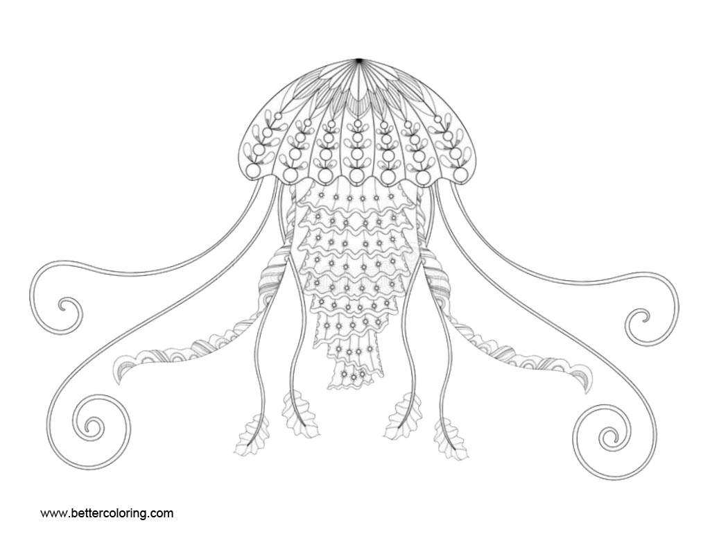 jellyfish zentangle jellyfish zentangle coloring pages free printable zentangle jellyfish