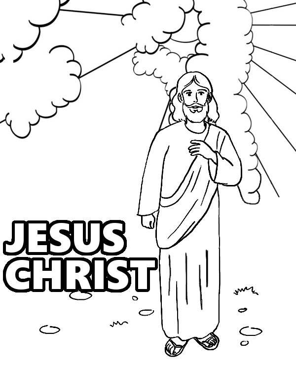 jesus coloring sheets jesus ascension coloring page at getcoloringscom free jesus coloring sheets