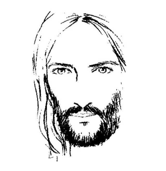 jesus face coloring page black and white drawing of jesus at getdrawings free jesus page face coloring