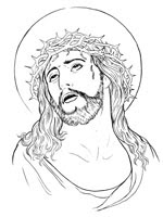 jesus face coloring page coloring pages religious easter coloring pages holy face page coloring face jesus