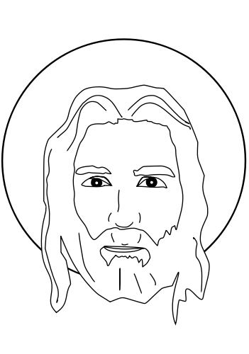jesus face coloring page jesus face drawing at getdrawings free download coloring page face jesus