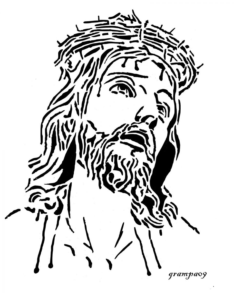jesus face coloring page jesus line drawing at getdrawings free download face page coloring jesus