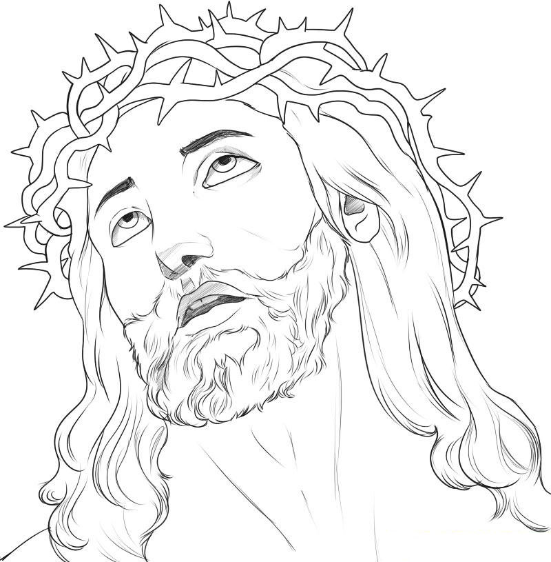 jesus face coloring page pictures of baby jesus in a manger clipartsco page jesus face coloring