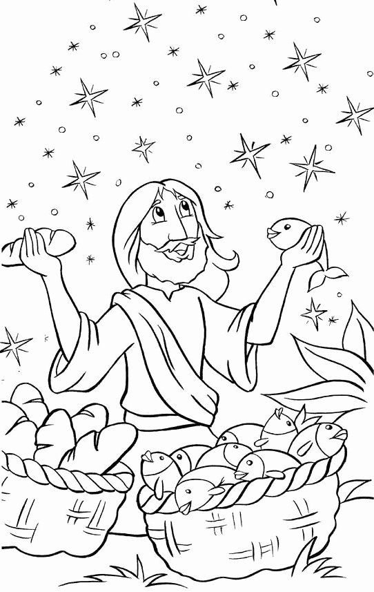 jesus feeds 5000 coloring page feeding the multitude jesus feeds 5000 page feeds coloring jesus 5000