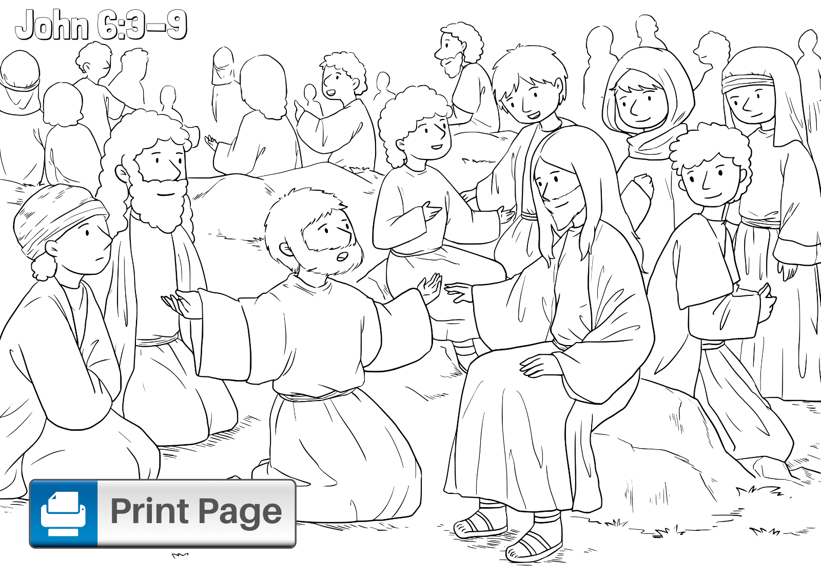 jesus feeds 5000 coloring page jesus feeds the 5000 bible story coloring pages feeds page 5000 jesus coloring