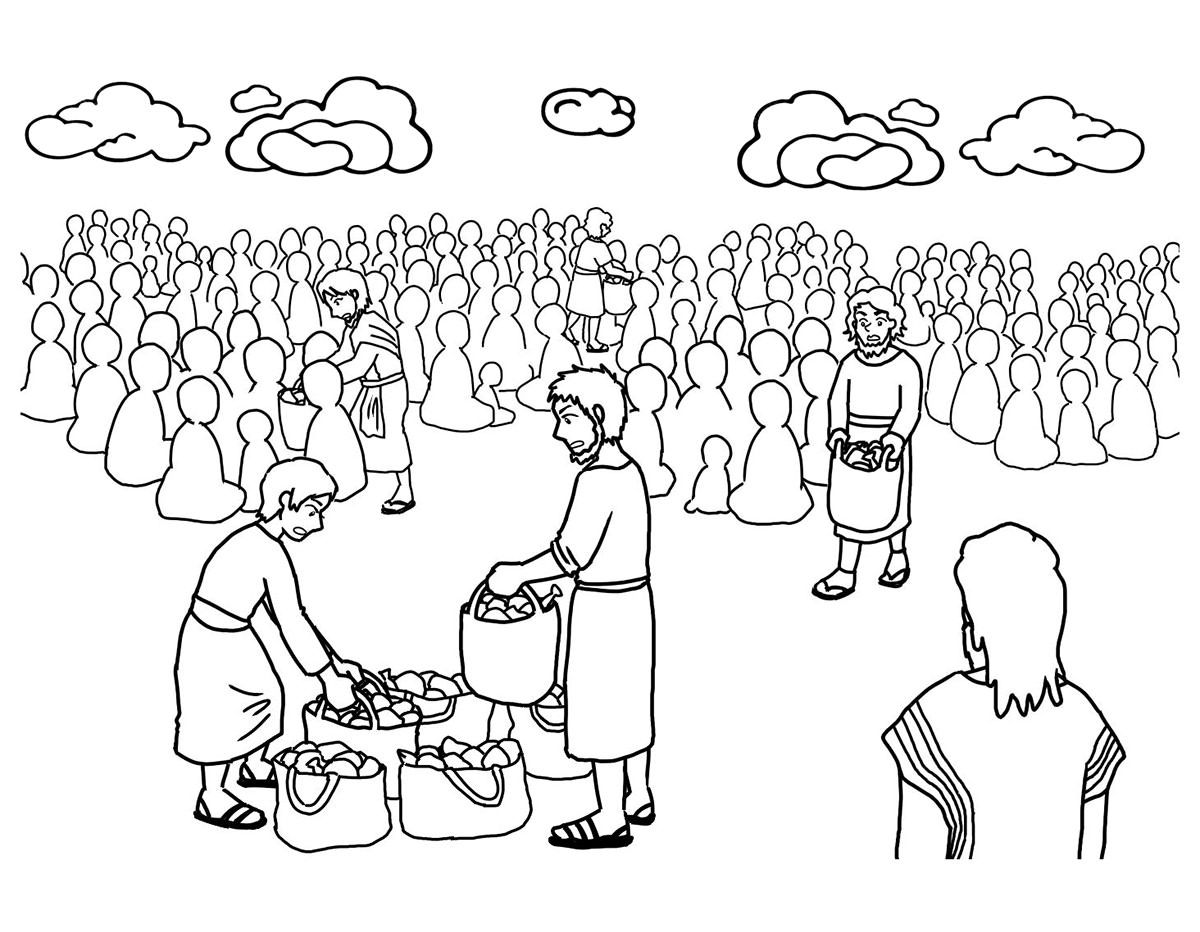 jesus feeds 5000 coloring page jesus feeds the 5000 coloring pages for kids printable page jesus 5000 feeds coloring