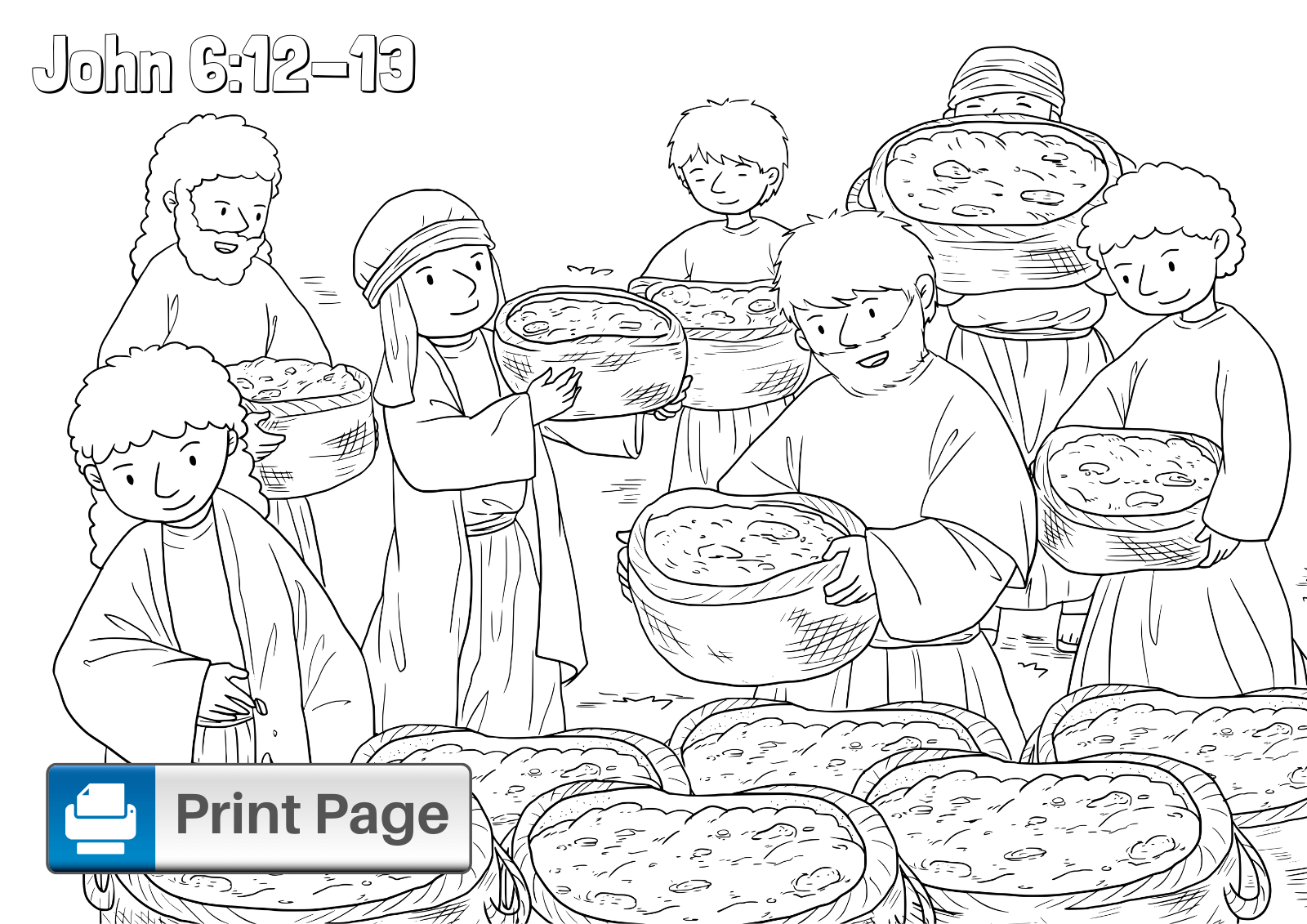 jesus feeds 5000 coloring page jesus feeds the 5000 religious doodles jesus 5000 coloring page feeds