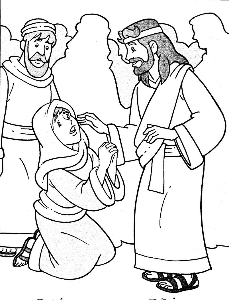 jesus heals coloring page heals the sick because miracles of jesus coloring page page coloring jesus heals