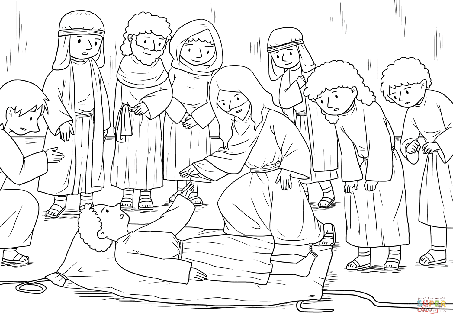 jesus heals paralyzed man coloring page find more coloring pages at the resources for teaching heals man page paralyzed jesus coloring