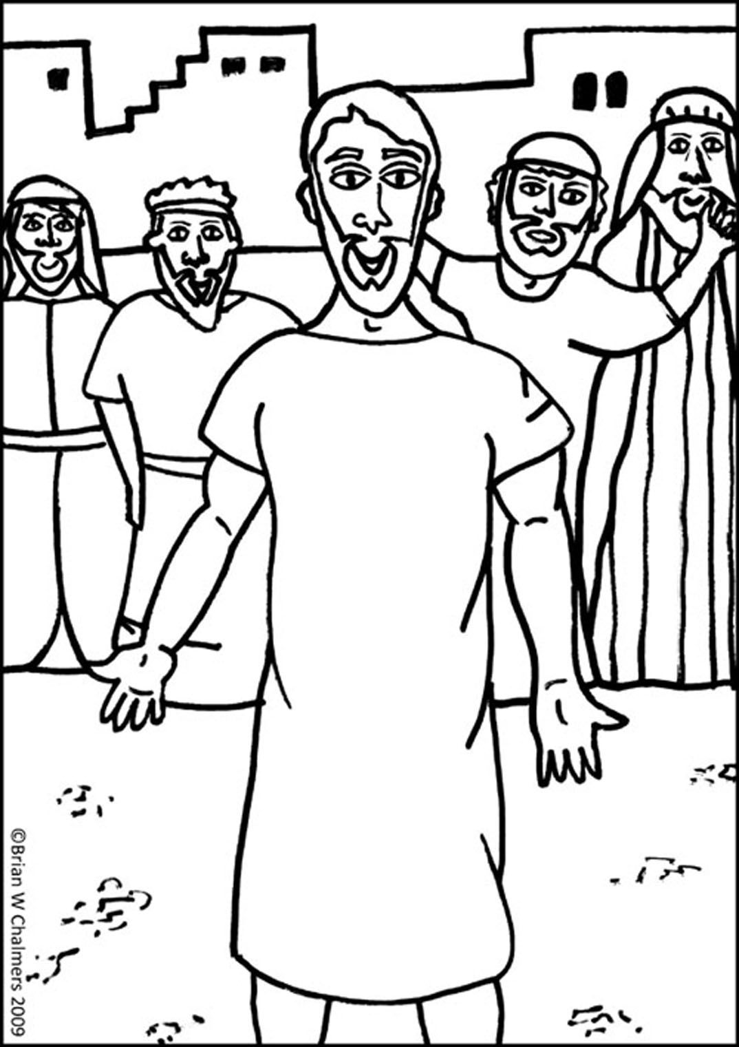 jesus heals paralyzed man coloring page preschool bible coloring pages jesus heals a paralyzed man paralyzed page coloring man heals jesus