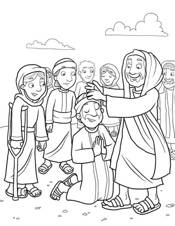 jesus heals the leper coloring page excellent photo of jesus heals the leper coloring page jesus page leper heals coloring the