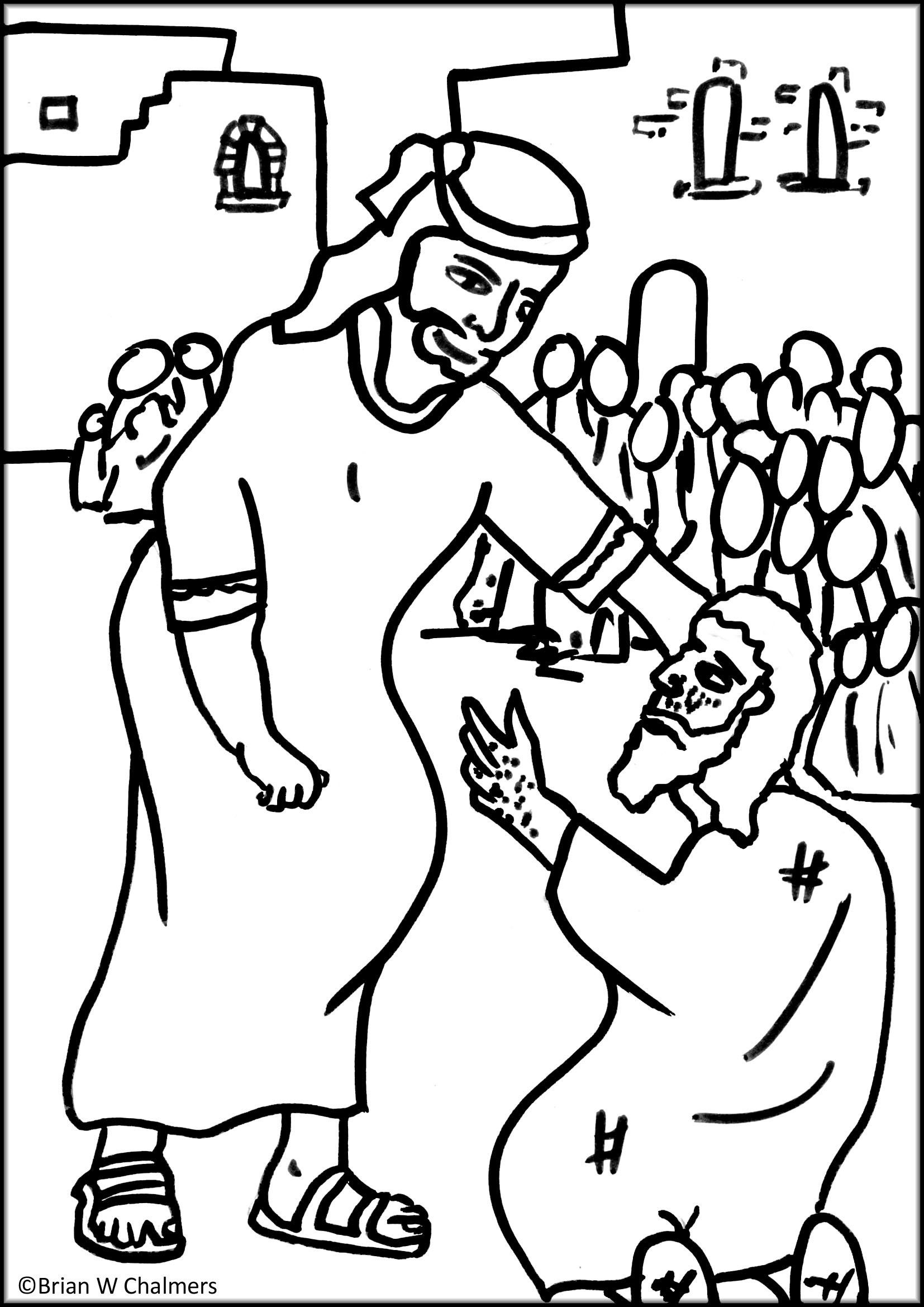 jesus heals the leper coloring page jesus heals the 10 lepers sunday school coloring pages coloring page the leper jesus heals