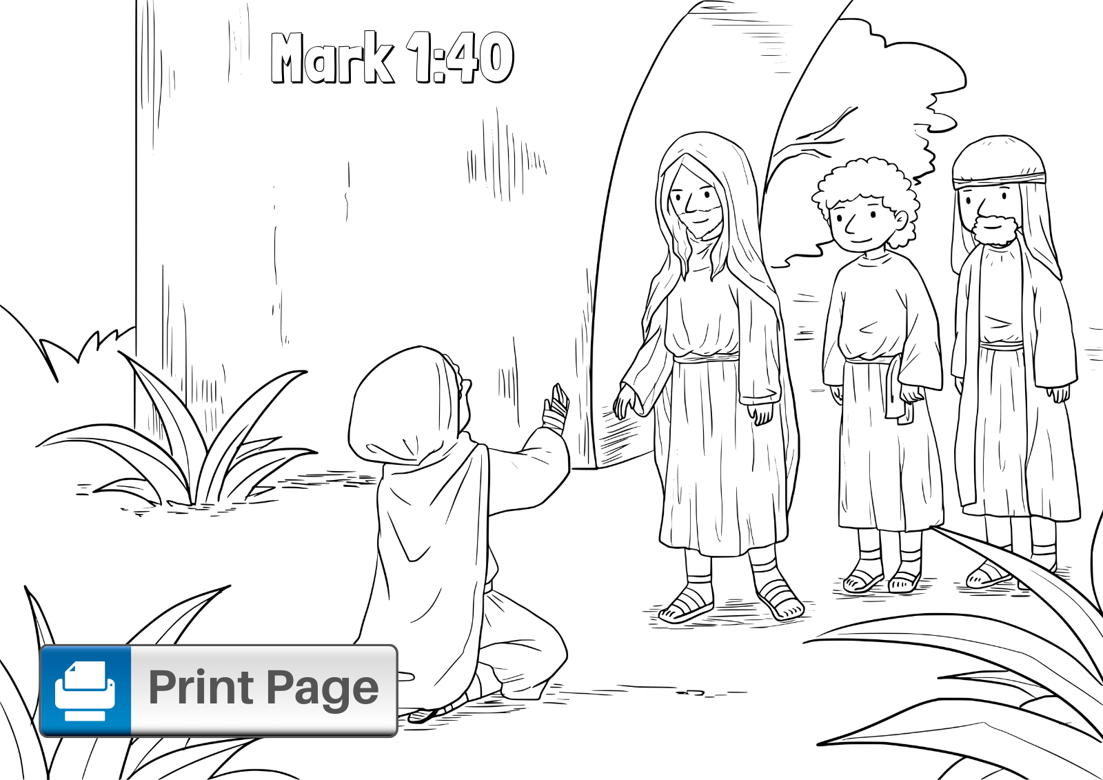 jesus heals the leper coloring page jesus heals the leper coloring pages for kids connectus leper jesus heals coloring the page