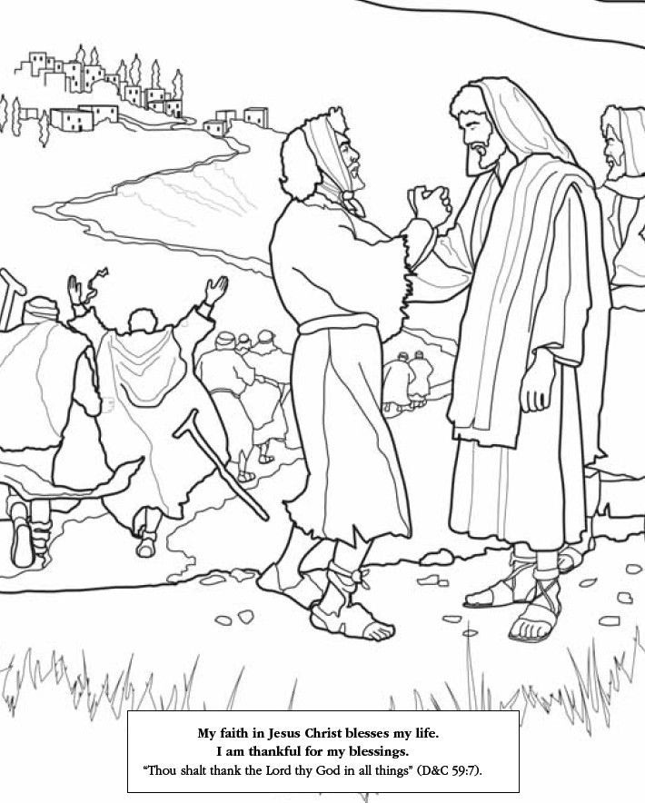 jesus heals the leper coloring page jesus heals the ten lepers  coloring page preschool coloring jesus the leper page heals