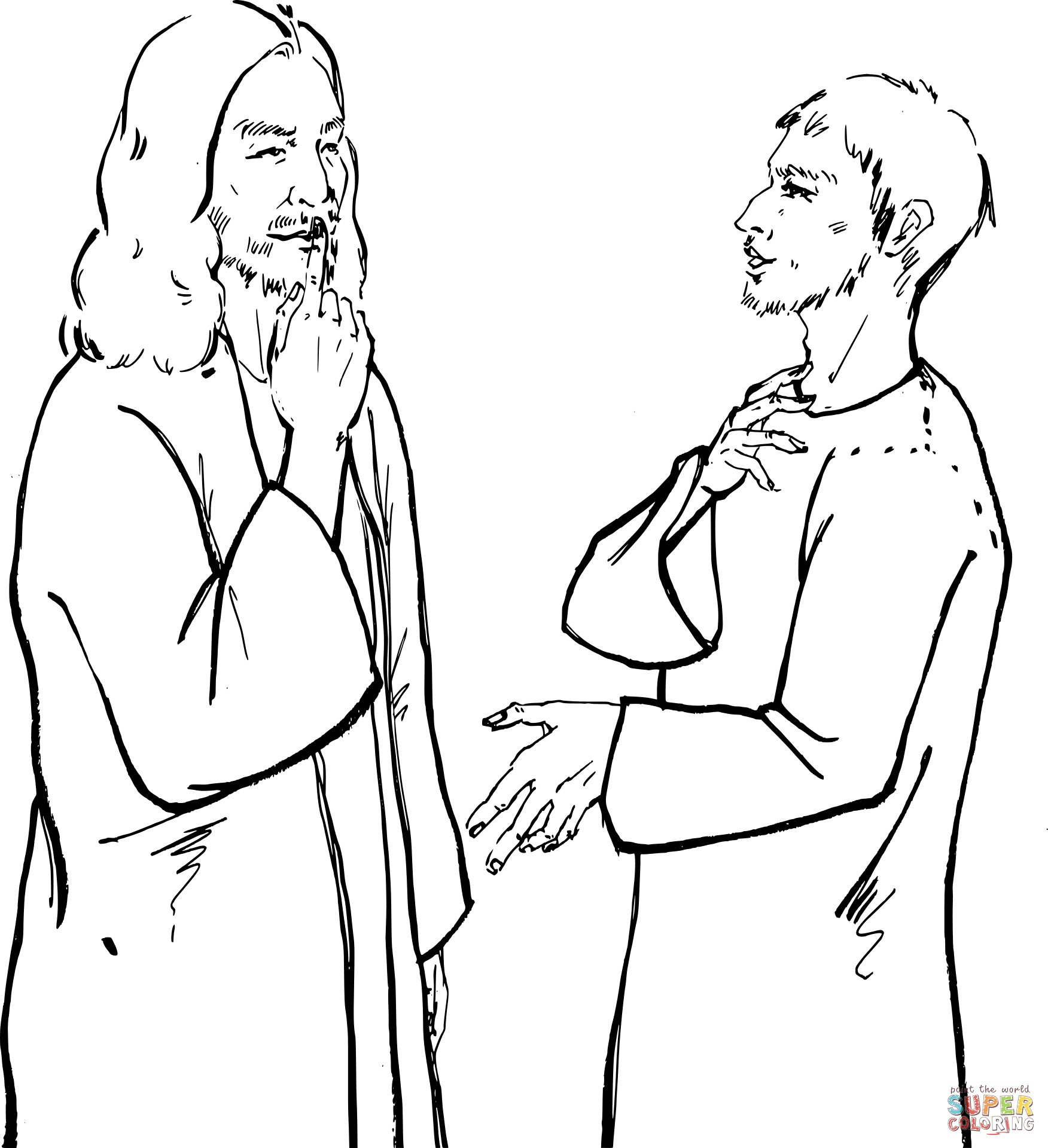 jesus heals the leper coloring page ten lepers coloring page coloring pages jesus coloring page jesus leper coloring heals the