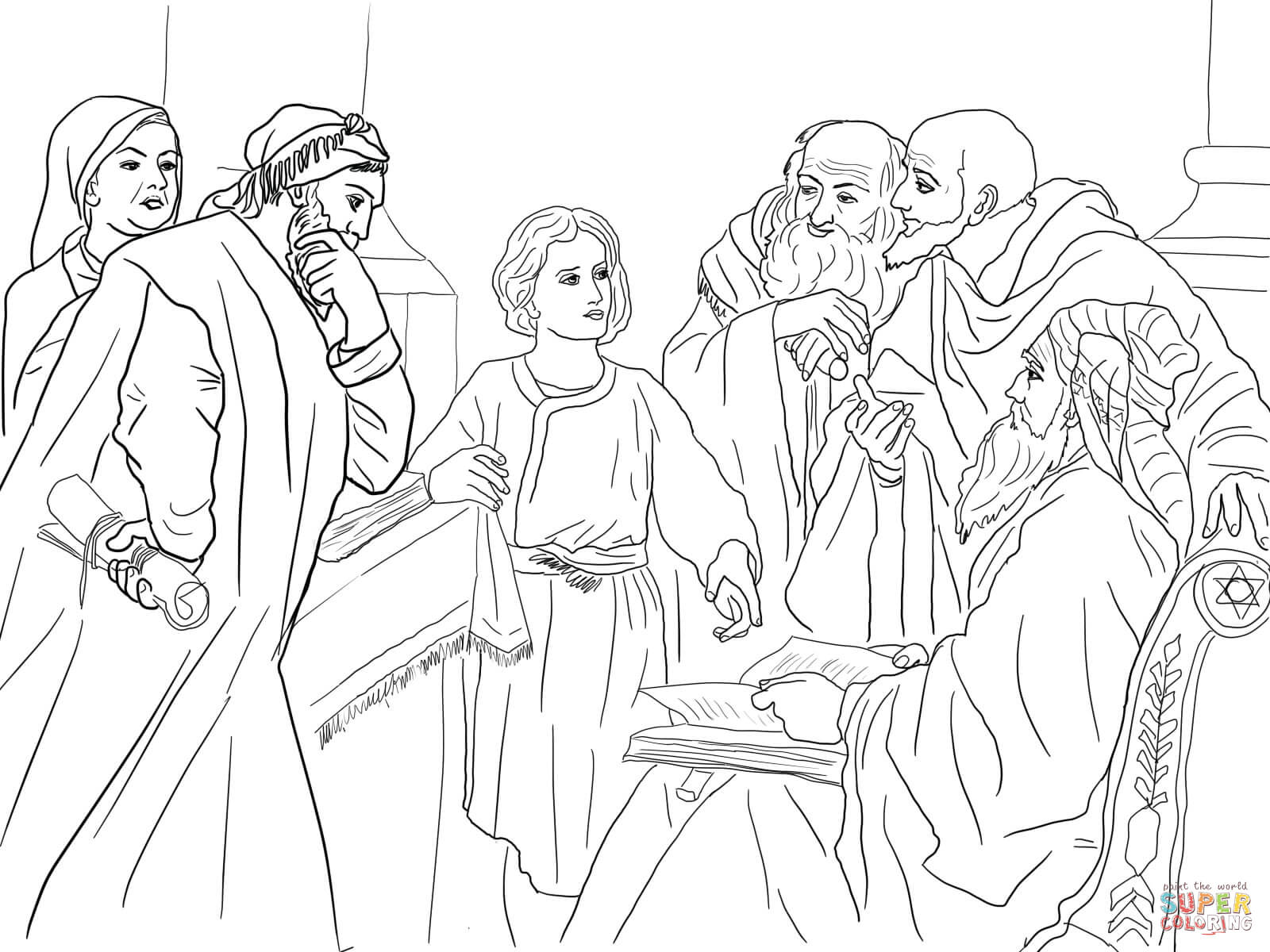jesus in the temple coloring page boy jesus in the temple coloring page coloring home in the coloring jesus page temple
