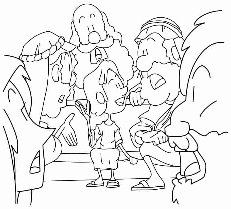 jesus in the temple coloring page presentazionedigesùaltempio7gif 8131045 in coloring page temple the jesus