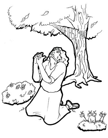 jesus praying in the garden of gethsemane coloring page jesus arrested coloring page google search coloring page gethsemane garden praying jesus of in the coloring