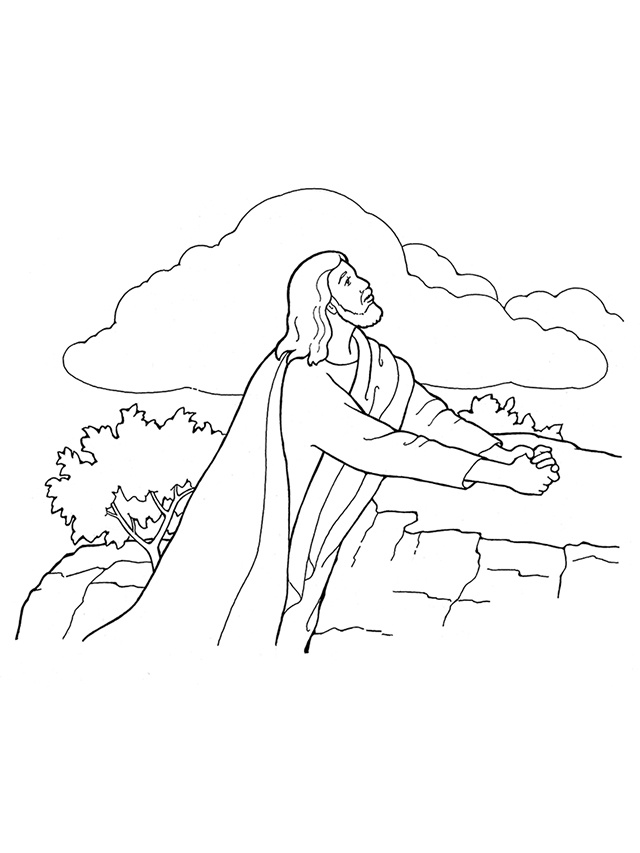 jesus praying in the garden of gethsemane coloring page topics with suggestions for crafts and activities g m coloring jesus of garden praying gethsemane in the page