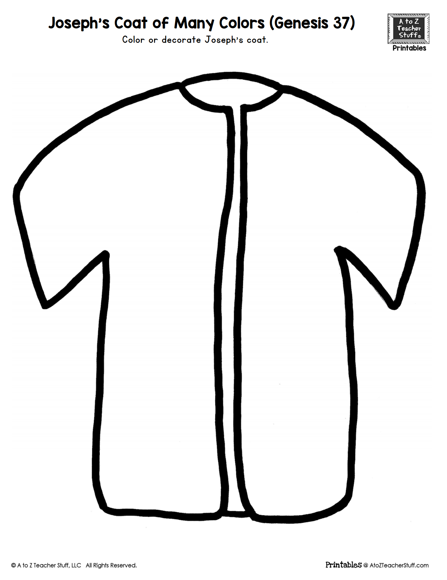joseph coat of many colors coloring page josephs coat of many colors color by number sunday coat joseph colors page coloring many of