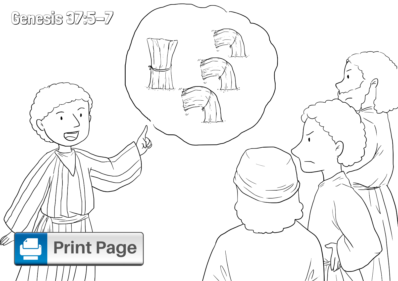 joseph the dreamer coloring pages joseph dream coloring page coloring home dreamer pages joseph the coloring