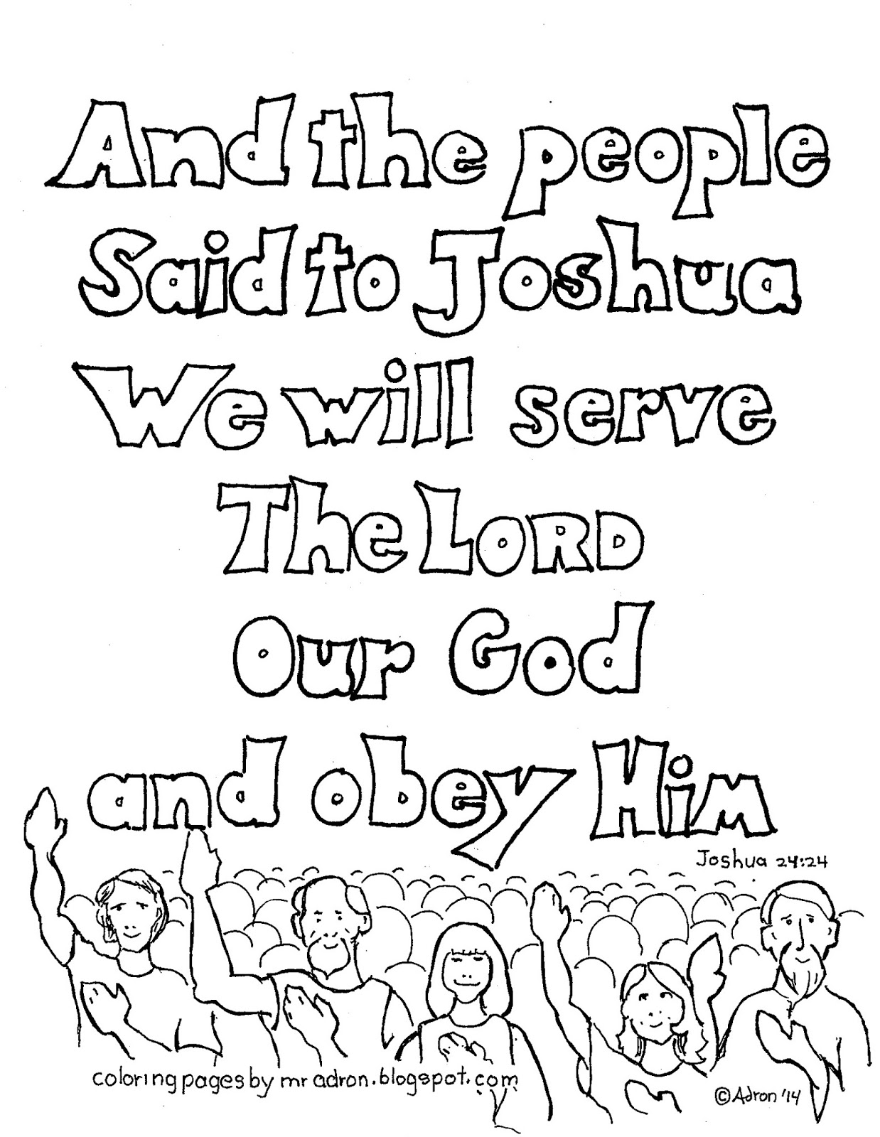 joshua coloring pages coloring pages for kids by mr adron we will serve the joshua coloring pages